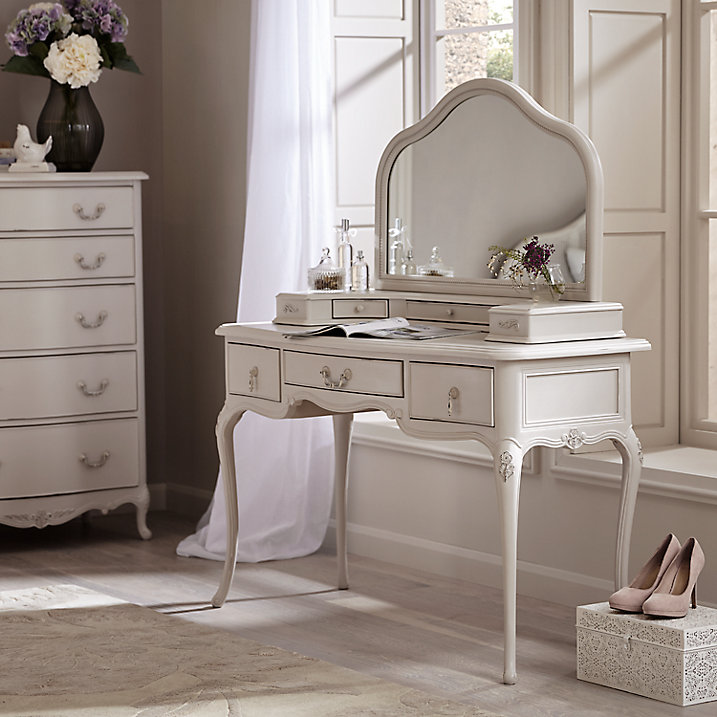 JOHN LEWIS ROSE MIST DRESSING TABLE WITH VANITY MIRROR EBay