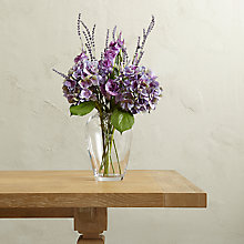 Buy Create Your Own Purple Lisianthus and Hydrangea Arrangement Online at johnlewis.com