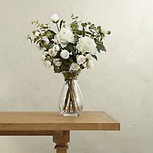 Create Your Own White Peony and Rose Arrangement