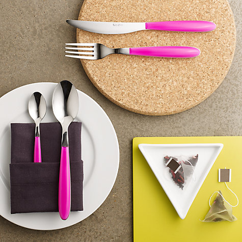 Buy House by John Lewis Vero Magenta Cutlery Online at johnlewis.com