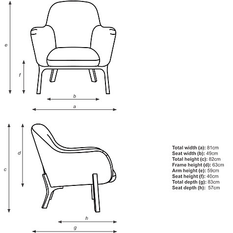 Buy Design Project by John Lewis No.086 Armchair, Michigan Night Sky ...