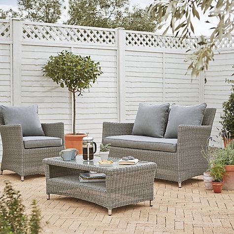 john lewis dante seater outdoor sofa lounging natural