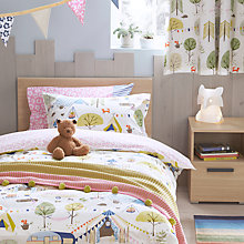 Buy little home at John Lewis Camping Duvet Cover and Pillowcase Set, Single Online at johnlewis.com
