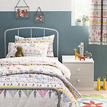 Buy little home at John Lewis Geo Duvet Cover and Pillowcase Set, Single Online at johnlewis.com