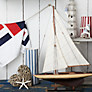 Buy John Lewis Fulmar Decorative Boat, H50cm Online at johnlewis.com