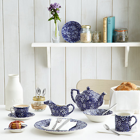 Buy Burleigh Blue Calico Teacup and Saucer, 0.185L, Blue Online at johnlewis.com