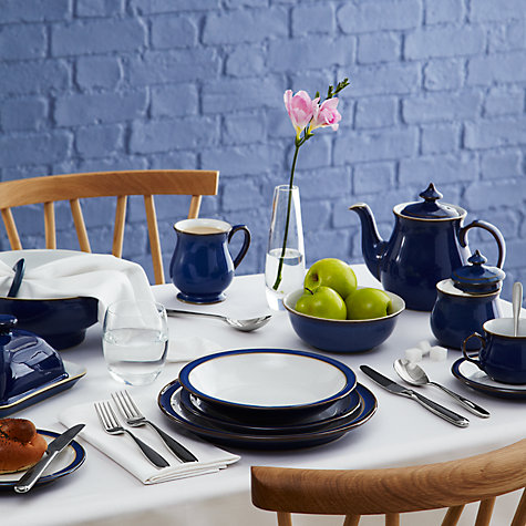 Buy Denby Imperial Blue Rimmed Bowl, Dia.21cm Online at johnlewis.com
