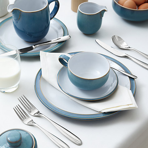 Buy Denby Azure Plate, Grey Online at johnlewis.com