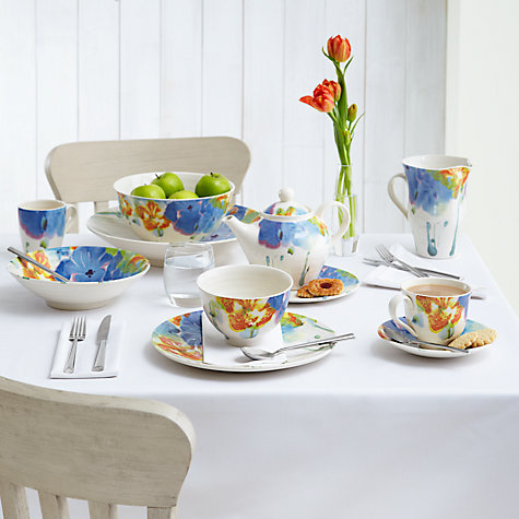 Buy John Lewis Mezzo Tablecloth, White, Rounded 140 x 180cm Online at johnlewis.com
