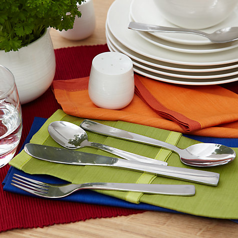 Buy John Lewis The Basics Square Cutlery Set, 16 Piece Online at johnlewis.com