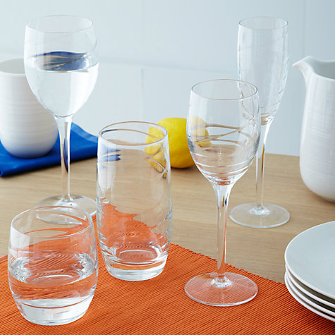Buy John Lewis Voluta Wine Glasses, 0.28L, Set of 4 Online at johnlewis.com