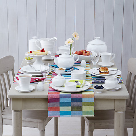 Buy Sophie Conran for Portmeirion Footed Cake Plate, White, 31cm Online at johnlewis.com