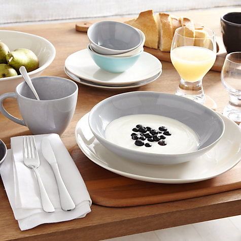 Buy John Lewis Glaze Cream Tableware Online at johnlewis.com