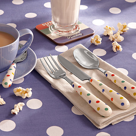 Buy John Lewis Ceramic Spot Dessert Spoon Online at johnlewis.com
