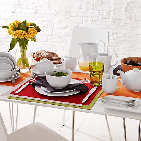 Buy House by John Lewis Coupe Tableware, 12 Piece Online at johnlewis.com