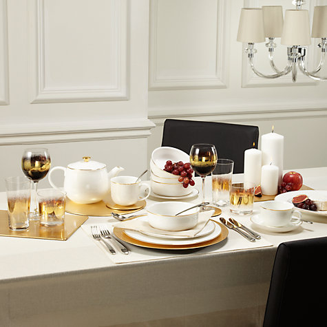 Buy Queensberry Hunt for John Lewis Gold Band Tableware Online at johnlewis.com