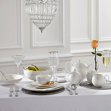Buy Denby Monsoon Lucille Silver Tableware Online at johnlewis.com