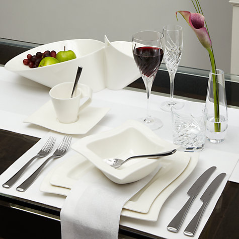 Buy Villeroy & Boch New Wave Cereal Bowl, White, 17cm Online at johnlewis.com