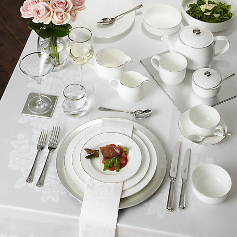 Buy John Lewis Rose Damask Napkin Online at johnlewis.com