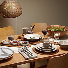 Buy John Lewis Puritan Tableware, Mocha Online at johnlewis.com