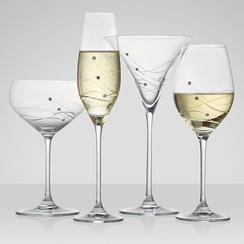 Buy Dartington Crystal Glitz Champagne Flutes, 0.21L, Set of 2 Online at johnlewis.com