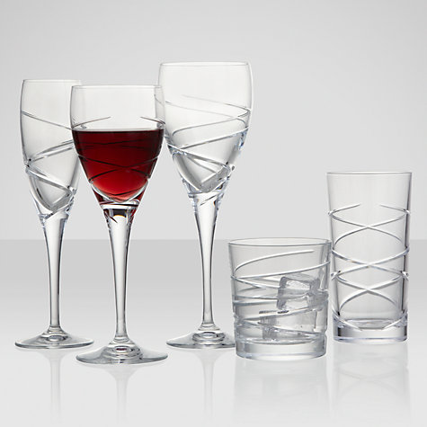 Buy John Lewis Haze Goblets, Set of 2, Clear Online at johnlewis.com