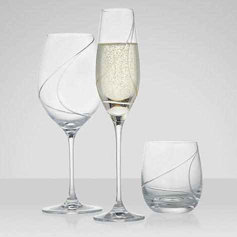 Buy John Lewis Loop Champagne Flute, 0.2L, Set of 2 Online at johnlewis.com