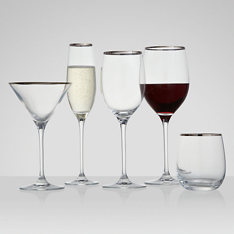 Buy John Lewis Platinum Band Cocktail Glass Online at johnlewis.com