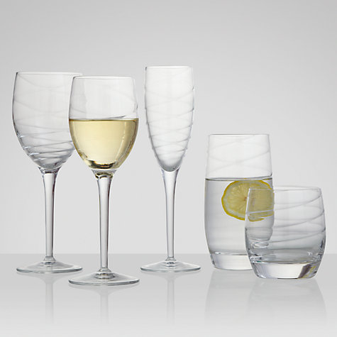 Buy John Lewis Voluta Goblets, Set of 4, Clear Online at johnlewis.com