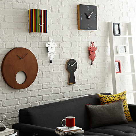 Buy Diamantini & Domeniconi Contemporary Cucu Wall Clock, H34.5 x W17.5cm, Mini Online at johnlewis.com