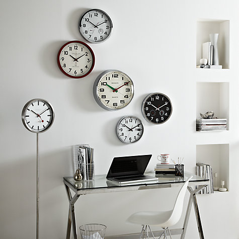 Buy Lascelles Freestanding Wall Clock, Chrome Online at johnlewis.com