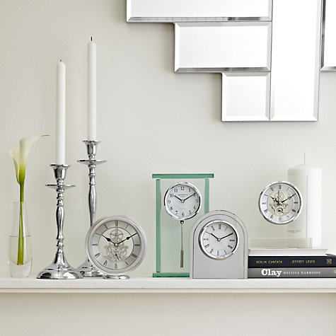 Buy London Clock Round Carriage Clock, Silver Online at johnlewis.com
