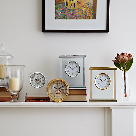 Buy John Lewis Athena Mantle Clock, Gold Online at johnlewis.com