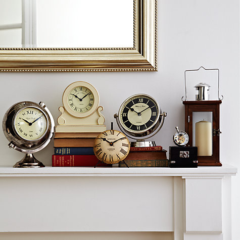 Buy Libra Speeno Round White Face Table Clock Online at johnlewis.com