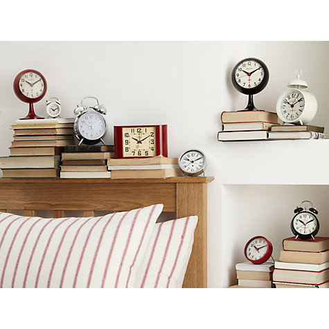 Buy Newgate Ritze Alarm Clock, White Online at johnlewis.com