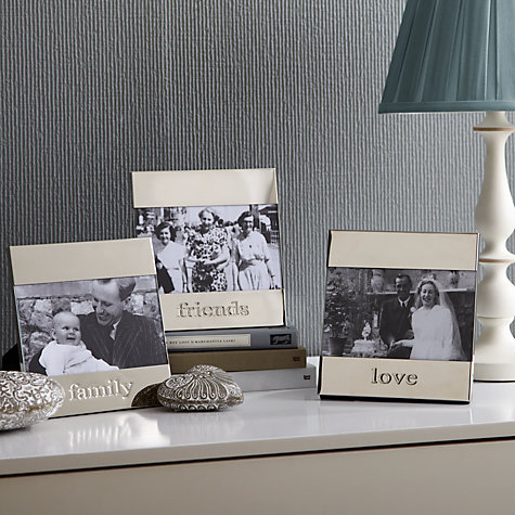 "Buy John Lewis Moments Family Photo Frame, Silver, 4 x 6"" (10 x 15cm) Online at johnlewis.com"