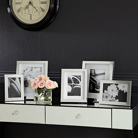 "Buy John Lewis Croft Collection Silver Plated Box Photo Frame, 4 x 6"" (10 x 15cm) Online at johnlewis.com"