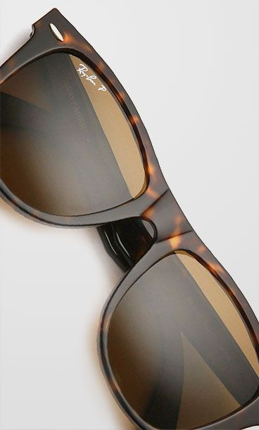 Ray-Ban RB2140 Iconic Wayfarer Oval Sunglasses , Tortoise, £120
