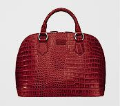 OSPREY LONDON Large Ladybug Croc Print Grab Handbag , Red, £365