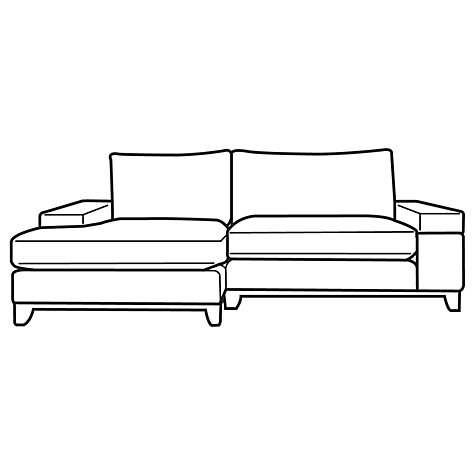 Buy John Lewis Addington LHF Chaise End Sofa, Odney Steel Online at johnlewis.com