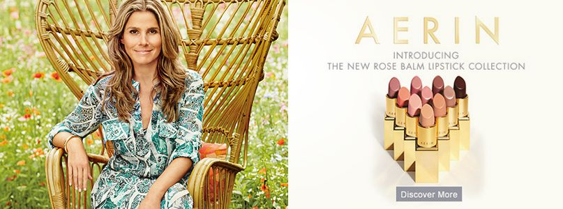 Aerin - Introducing  the new rose balm lipstick collection