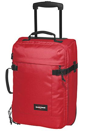 Eastpak Transfer Extra Small 2-Wheel Holdall, Red