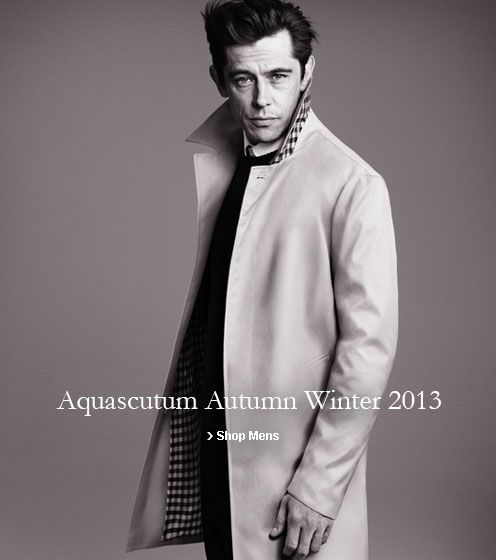 Aquascutum Autumn Winter 2013 Shop Men's