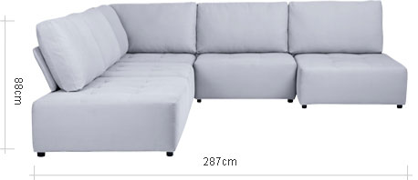 Flex LHF Corner Chaise End Configuration