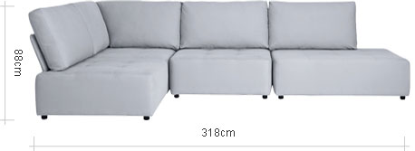 Flex LHF Large Chaise End Sofa