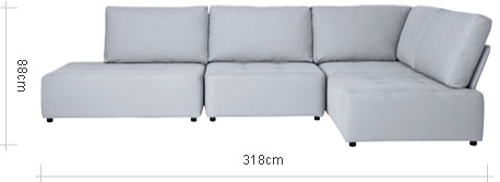 Flex RHF Large Chaise End Sofa