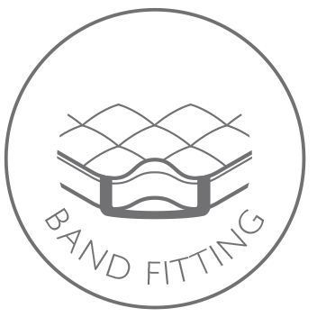 Band fitting for versatility and comfort