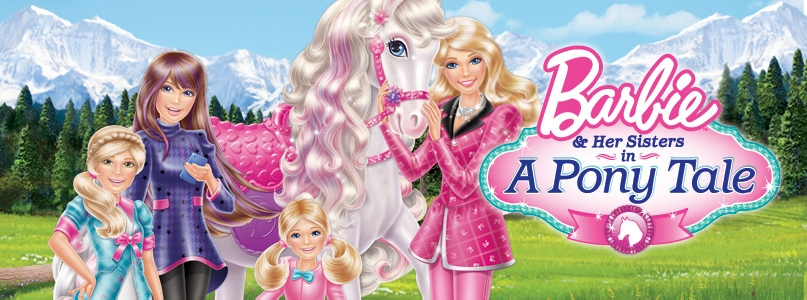 Barbie and her sister in a pony tale