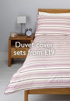 Duvet cover sets from £19