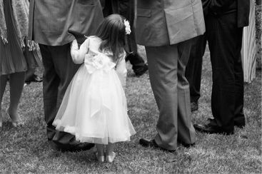 Wedding Image of Girl Hiding